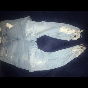 Destroyed denim